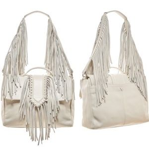Sam Edelman Michelle Leather Fringe Satchel Bag